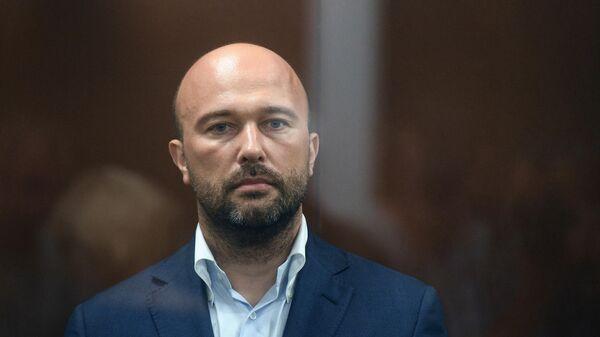 Председатель совета директоров и основатель нефтегазовой компании Новый поток Дмитрий Мазуров в зале заседаний Тверского суда Москвы. 15 июля 2019