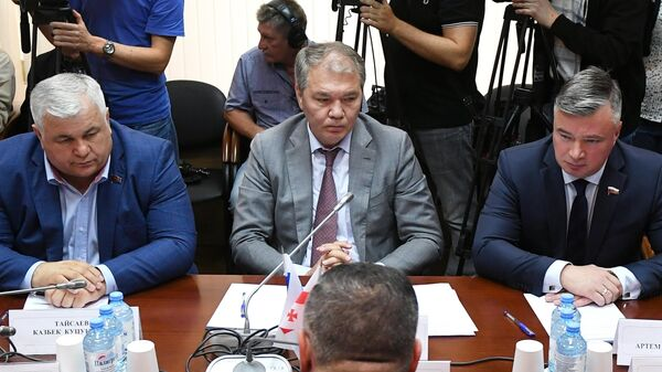 Встреча депутатов Госдумы РФ с делегацией из Грузии