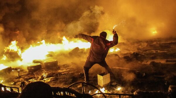 Столкновения в центре Киева. 2014 год