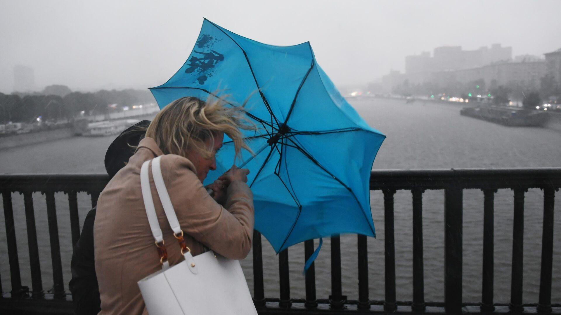 Дождь в Москве - РИА Новости, 1920, 06.05.2021
