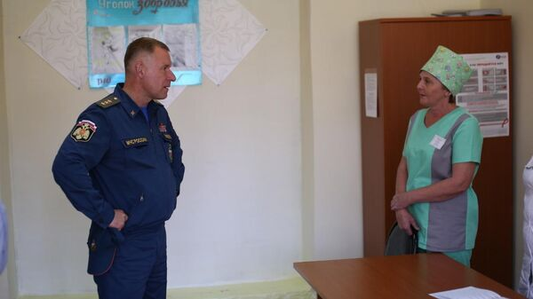 Глава МЧС России Евгений Зиничев в Иркутской области. 18 июля 2019
