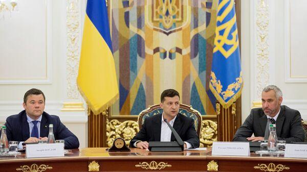 Президент Украины Владимир Зеленский на заседании Нацсовета по вопросам антикоррупционной политики в Киеве. 18 июля 2019