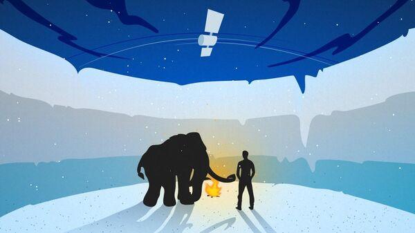 Спутник, вечная мерзлота и Сибирь в представлении художника