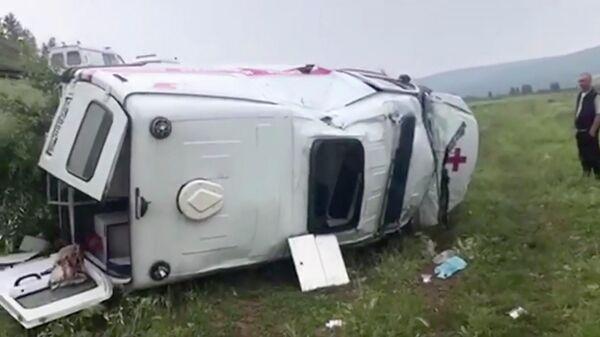 ДТП с участием автомобиля скорой помощи в Качугском районе Иркутской области