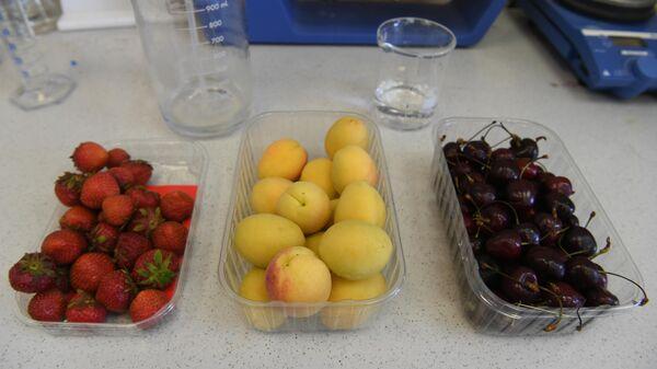 Проверка фруктов и ягод Роспотребнадзором в НИИ питания и эпидемиологии