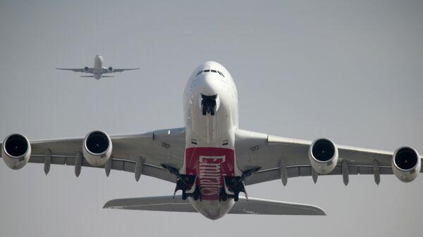 Самолет Airbus A380-800 авиакомпании Emirates