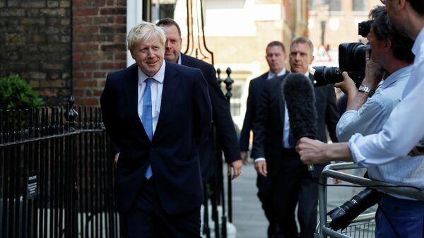 Борис Джонсон после объявления о назначении премьер-министром Великобритании. 23 июля 2019