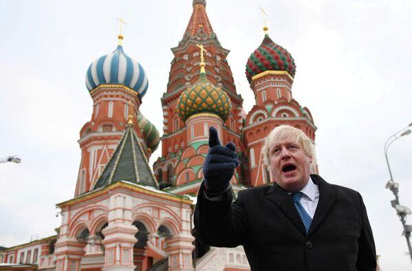Министр иностранных дел Великобритании Борис Джонсон на Красной площади в Москве. 22 декабря 2017