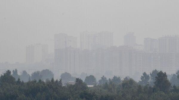 Смог в Новосибирске, вызванный лесными пожарами