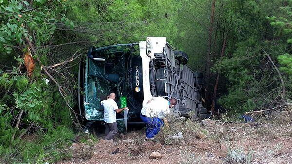 Автобус с туристами попал в ДТП в провинции Анталья. 23 июля 2019