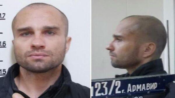 Сбежавший в Армавире преступник Антон Санников