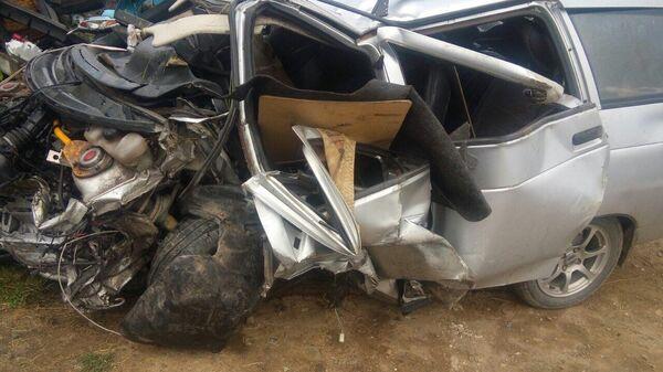 Последствия ДТП в Аргаяшском районе Челябинской области. 25 июля 2019