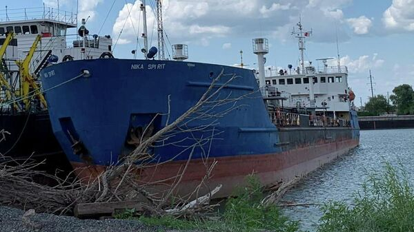 Задержанное СБУ российское судно в порту Измаила, Украина. 25 июля 2019