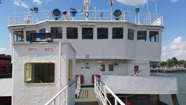 Задержанное СБУ российское судно в порту Измаила, Украина
