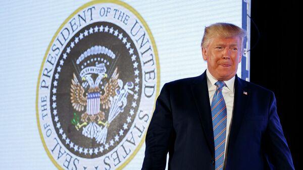 Президент США Дональд Трамп во время выступления на мероприятии организации Turning Point в Вашингтоне
