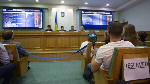 Подведение итогов выборов в Раду Украины