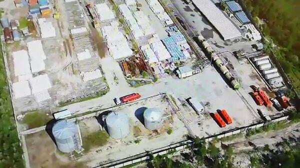 Стоп-кадр видео СК РФ, опубликованного в связи с хищением нефти в районе магистрального нефтепровода Уренгой – Холмогоры
