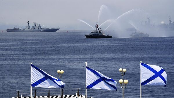 Видео парада ко дню ВМФ во Владивостоке