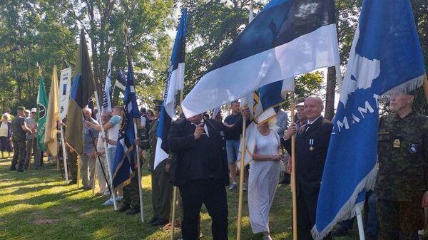 Церемония в Синимяэ в память 20-й дивизии Ваффен-СС