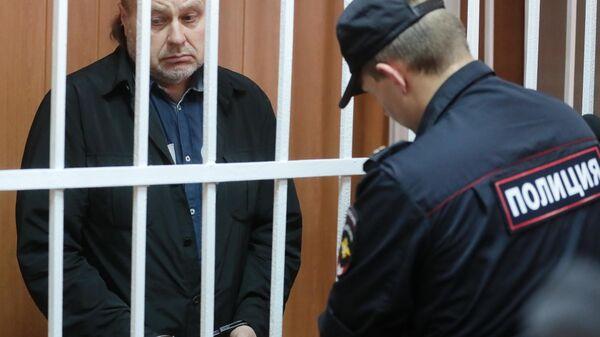 Бывший заместитель директора Федеральной службы исполнения наказаний Олег Коршунов, во время оглашения приговора в Гагаринском суде города Москвы. 29 июля 2019