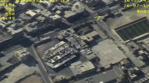 Аэросъемка рынка в Маарет-ан-Нууман в Сирии. 26 июля 2019