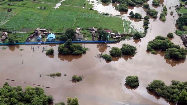 Подтопленный район в Амурской области
