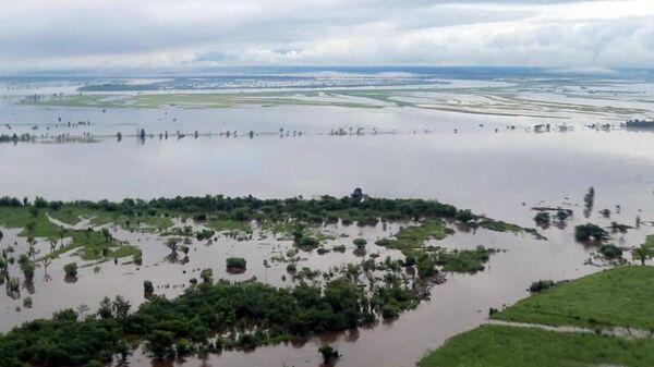 Подтопленный район в Амурской области. 30 июля 2019