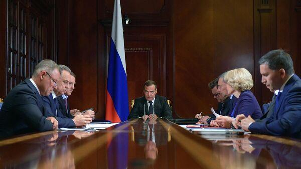 Дмитрий Медведев проводит совещание с вице-премьерами РФ. 30 июля 2019