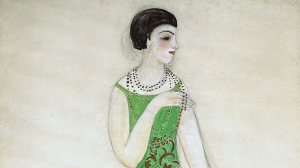 Эскиз для платья Мириам для модного дома Myrbor, 1927-1928