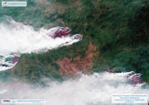 Оперативный мониторинг зон чрезвычайных ситуаций со спутника российских космических средств дистанционного зондирования Земли