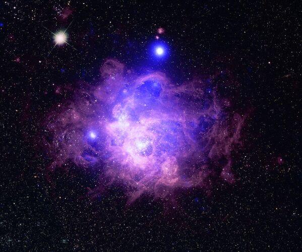 Звездообразование NGC 604 в Галактике Треугольника