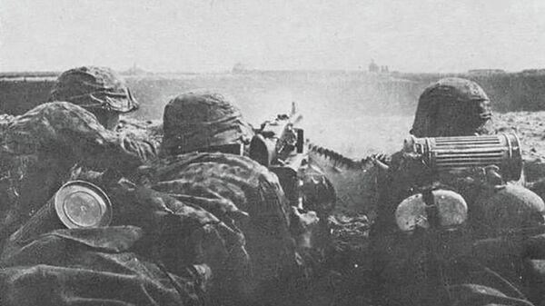 Бойцы дивизии СС Галичина во время битвы за Броды. 1944 год