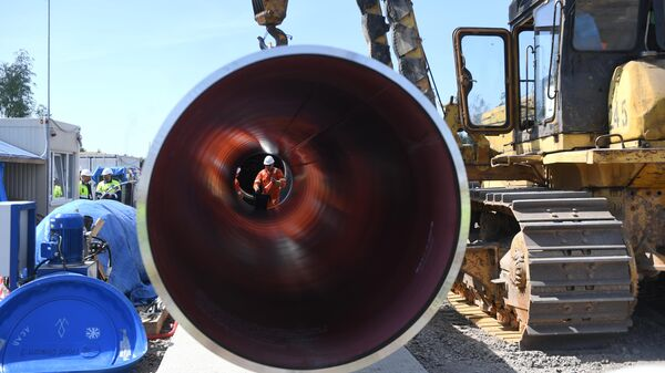 Строительство газопровода Северный поток-2 в Ленинградской области