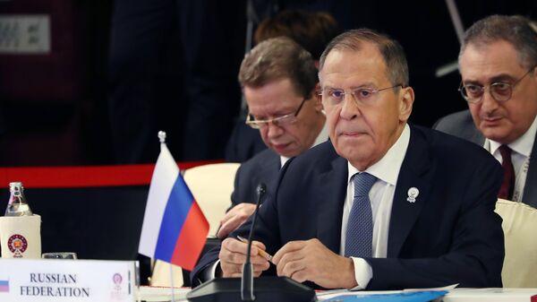 Министр иностранных дел России Сергей Лавров на заседании министров иностранных дел Россия-АСЕАН в Бангкоке