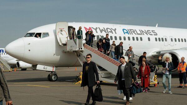 Самолет авиакомпании MyWay Airlines