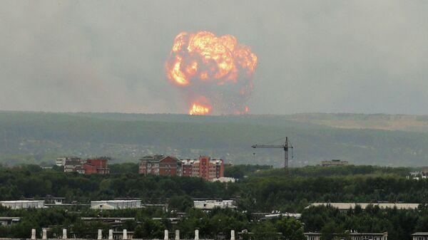 Взрыв на военном складе под Ачинском