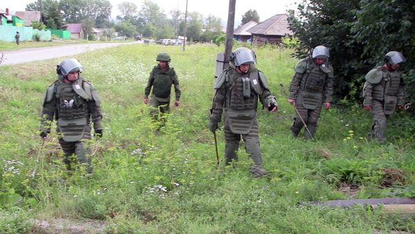 Военные саперы проверили территорию поселка рядом с горевшим складом в Ачинском районе