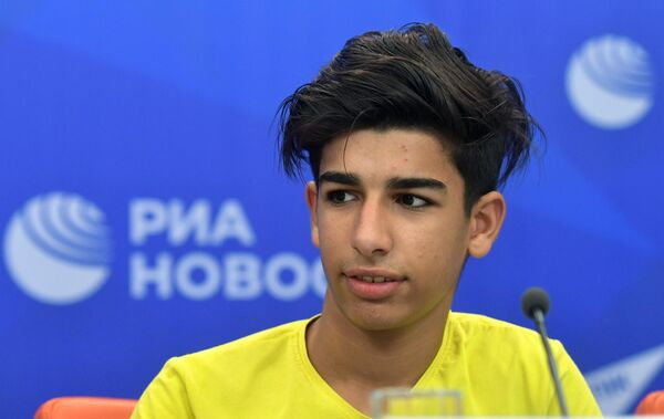 Касим Алькадим на пресс-конференции в МИА Россия сегодня