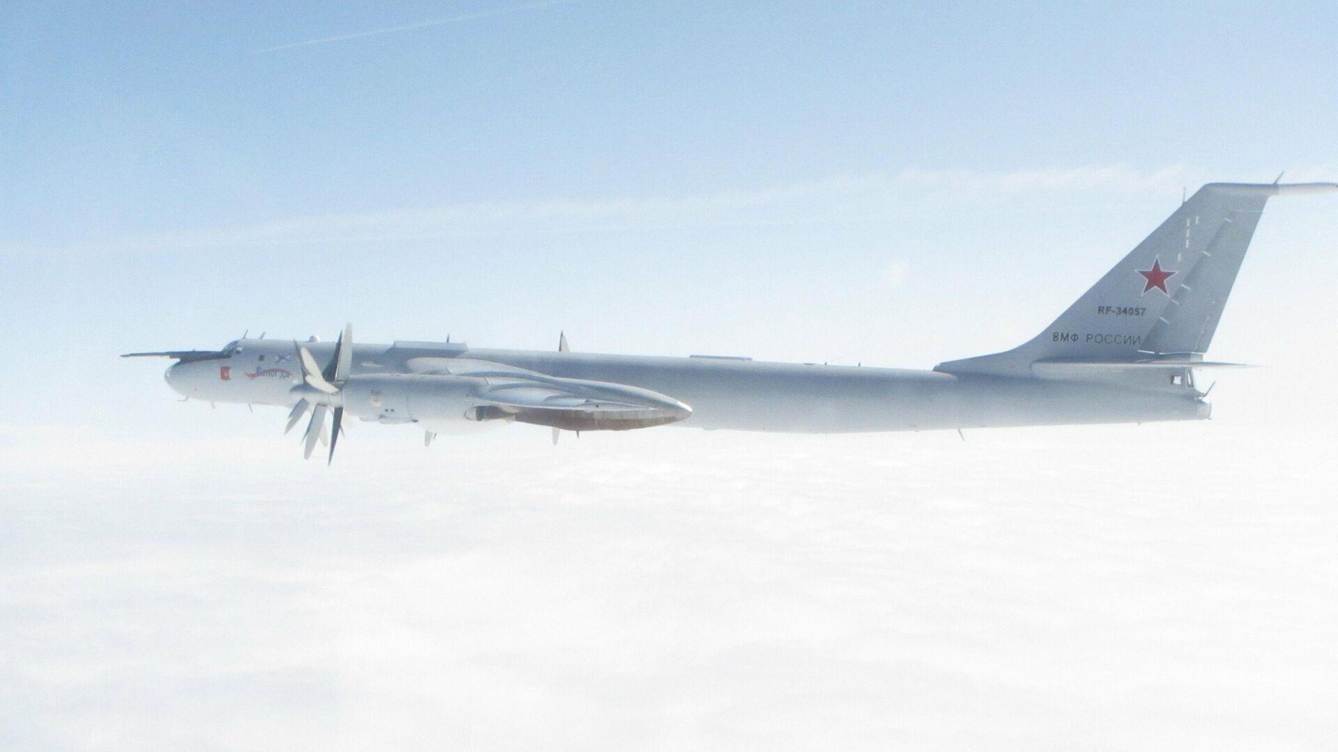 Фото российского Ту-142, опубликованное британскими ВВС - РИА Новости, 1920, 29.08.2020