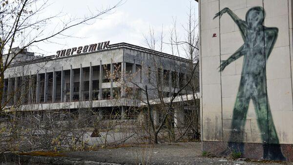 Заброшенный Дворец культуры Энергетик на территории зоны отчуждения Чернобыльской АЭС