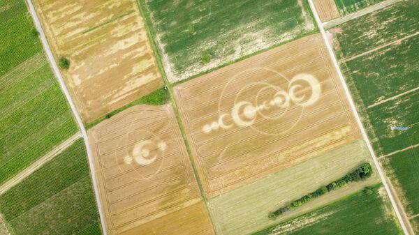 Рисунок на поле. Эльзас, Франция