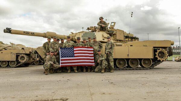 Американские военнослужащие на военной базе Бемово, Польша