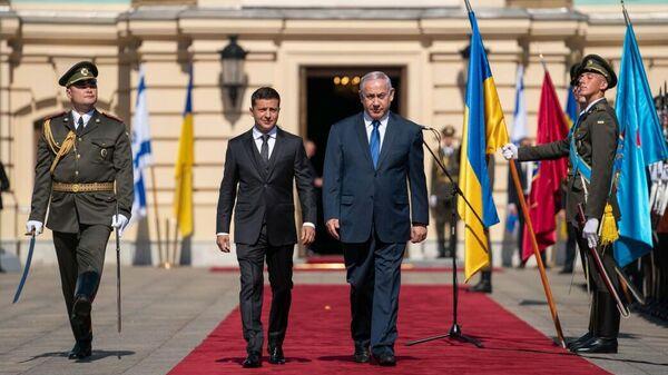 Президент Украины Владимир Зеленский и премьер-министр Израиля Биньямин Нетаньяху в Киеве