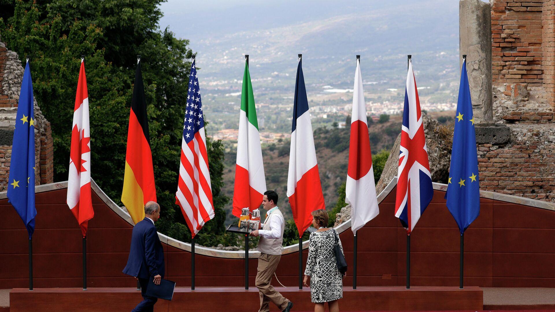 Флаги стран-участниц саммита G7 - РИА Новости, 1920, 05.05.2021
