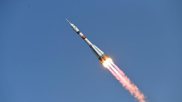 Запуск ракеты-носителя Союз-2.1