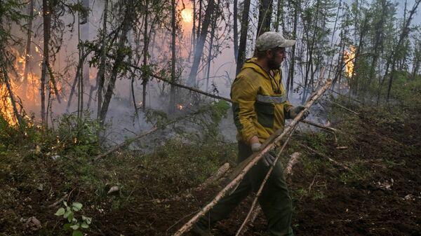 Ликвидация лесных пожаров в Красноярском крае