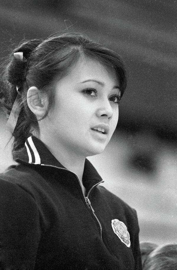 Обладательница Кубка СССР по художественной гимнастике Галима Шугурова.