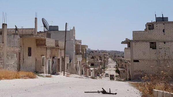 Сирийский город Хан-Шейхун в провинции Идлиб