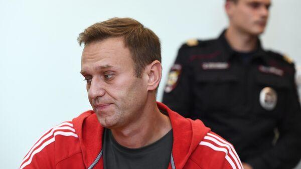 Алексей Навальный в Симоновском суде Москвы