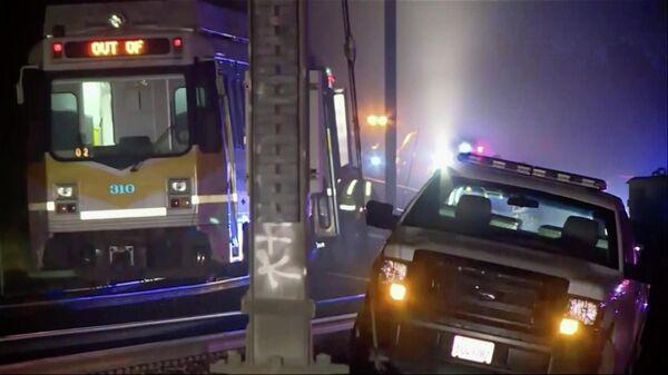 Поезд легкого метро сошел с рельс в Сакраменто. 22 августа 2019